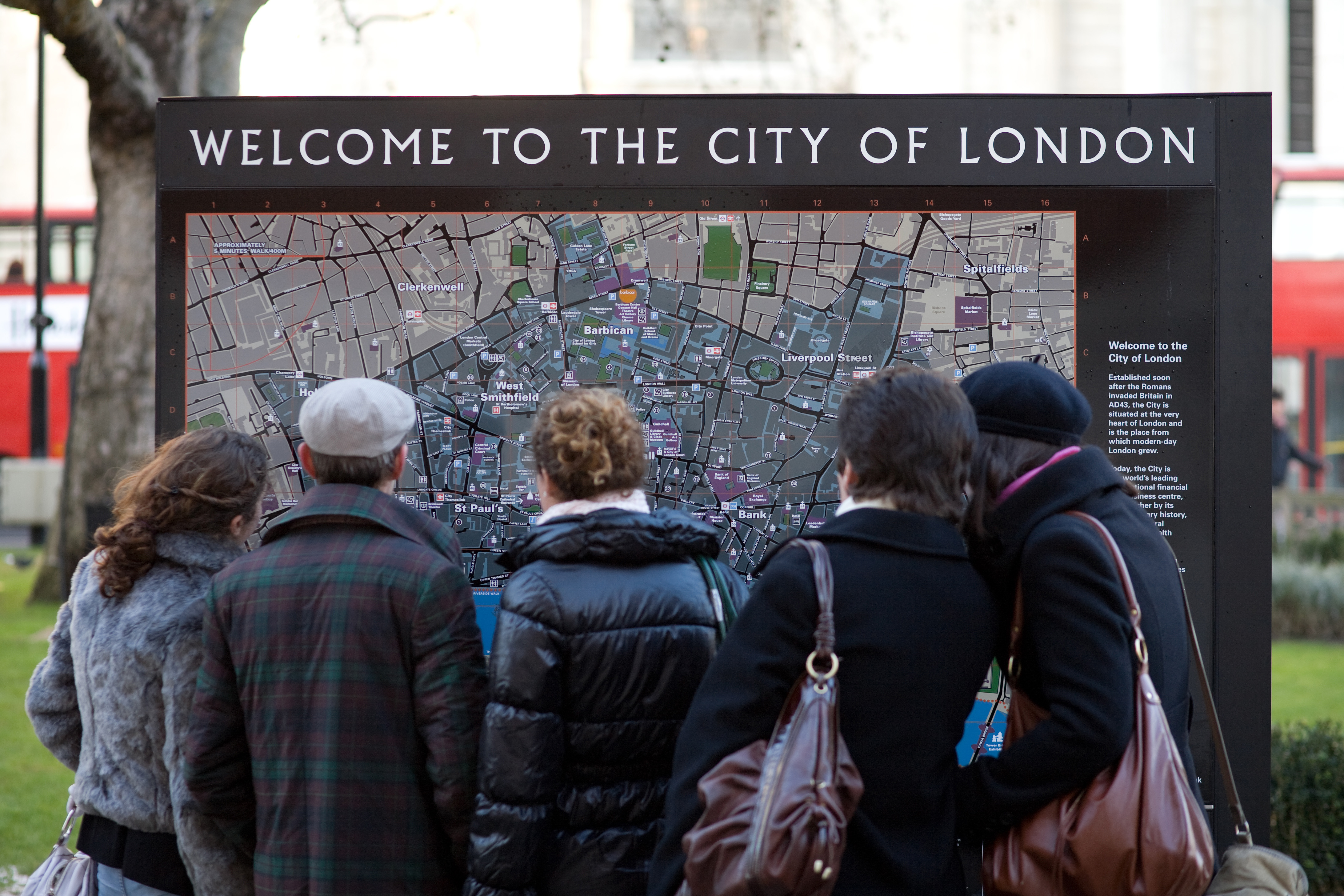 Visitor and Travel Information Centres – London Tourist Information Map